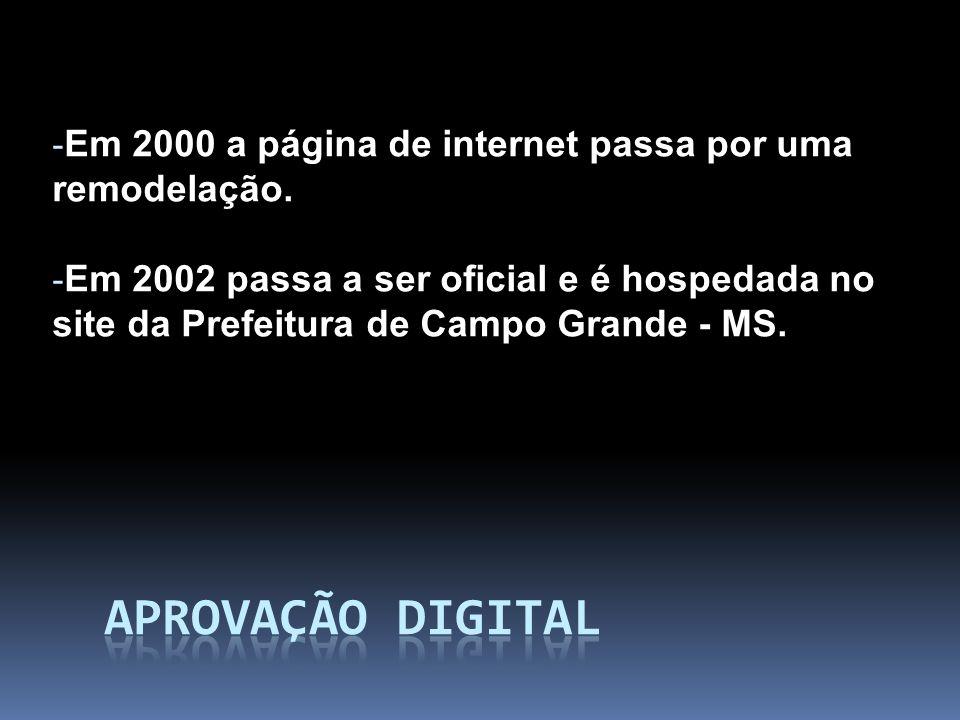 Em 2000 a página de internet passa por uma remodelação.