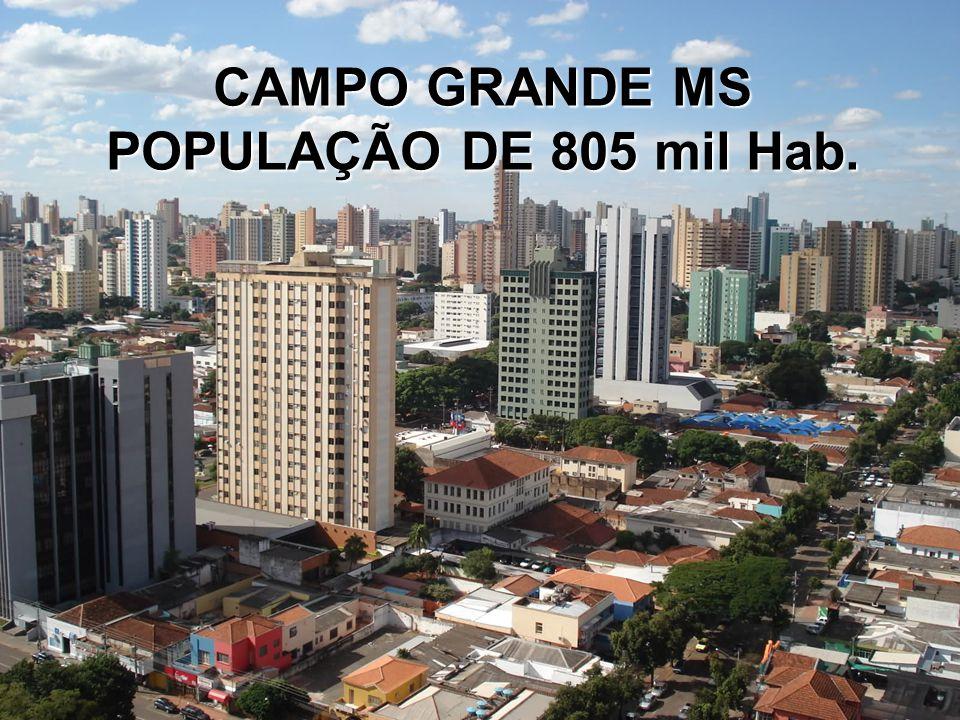 CAMPO GRANDE MS POPULAÇÃO DE 805 mil Hab.