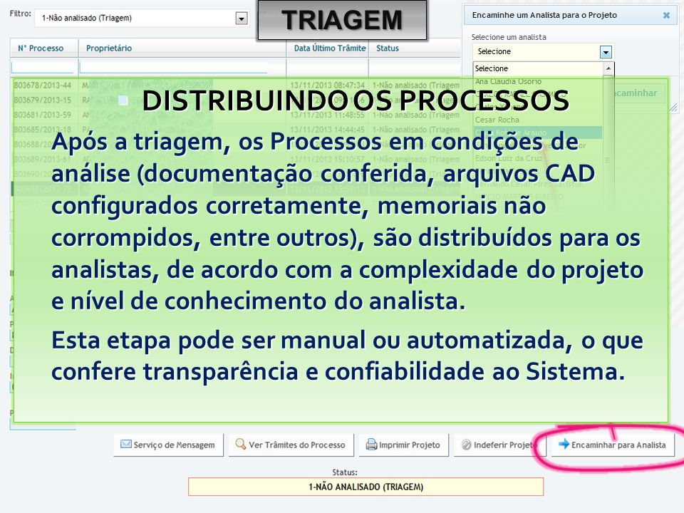 DISTRIBUINDO OS PROCESSOS