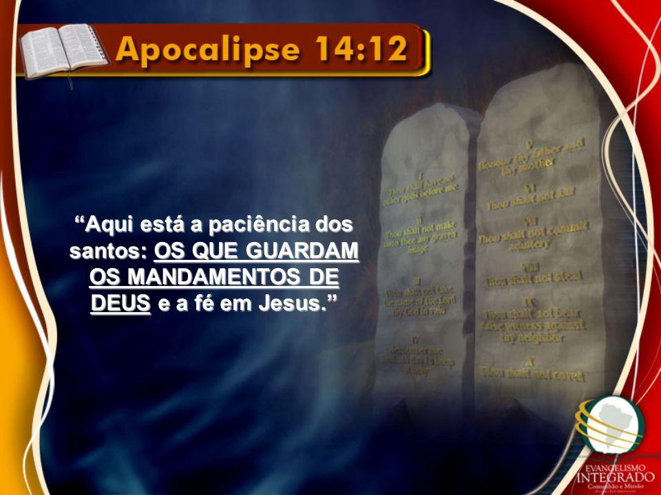 Aqui está a paciência dos santos: OS QUE GUARDAM OS MANDAMENTOS DE DEUS e a fé em Jesus.