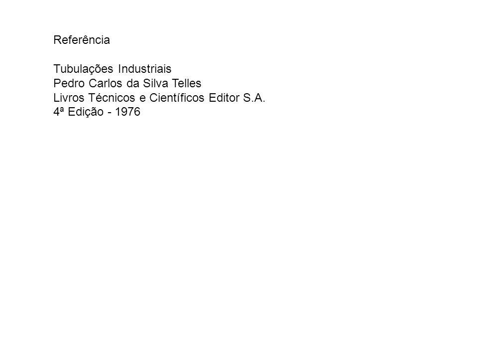 Referência Tubulações Industriais. Pedro Carlos da Silva Telles. Livros Técnicos e Científicos Editor S.A.