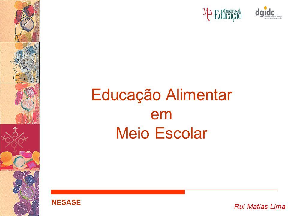 Educação Alimentar em Meio Escolar Rui Matias Lima NESASE