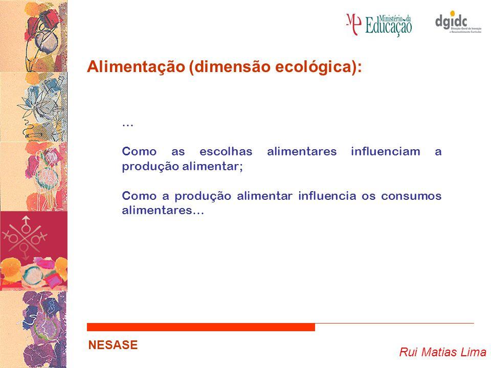 Alimentação (dimensão ecológica):