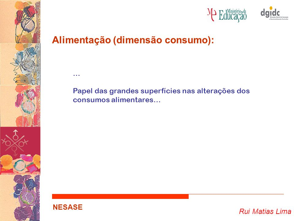 Alimentação (dimensão consumo):