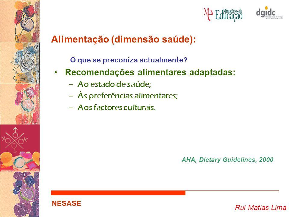 Alimentação (dimensão saúde):