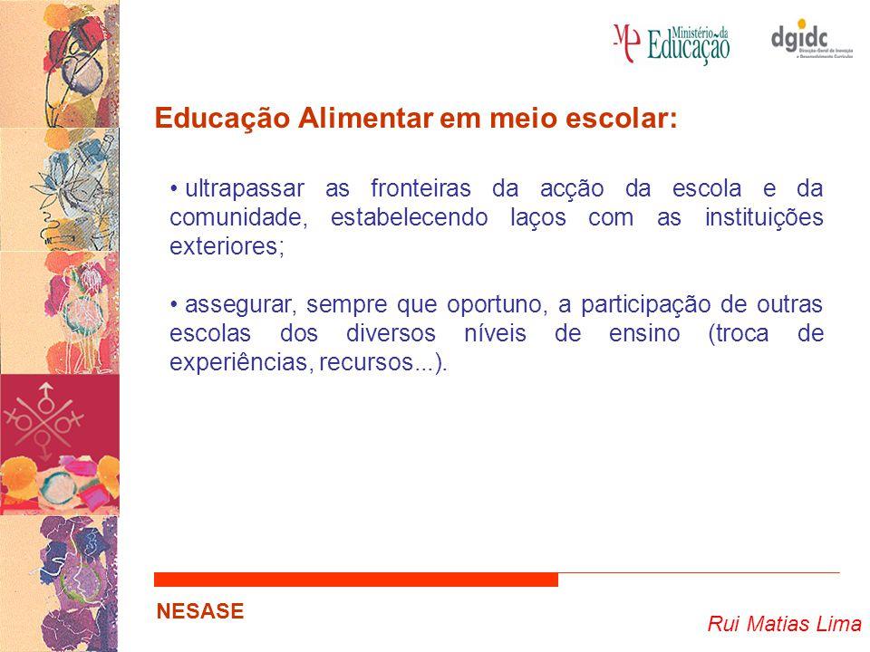 Educação Alimentar em meio escolar: