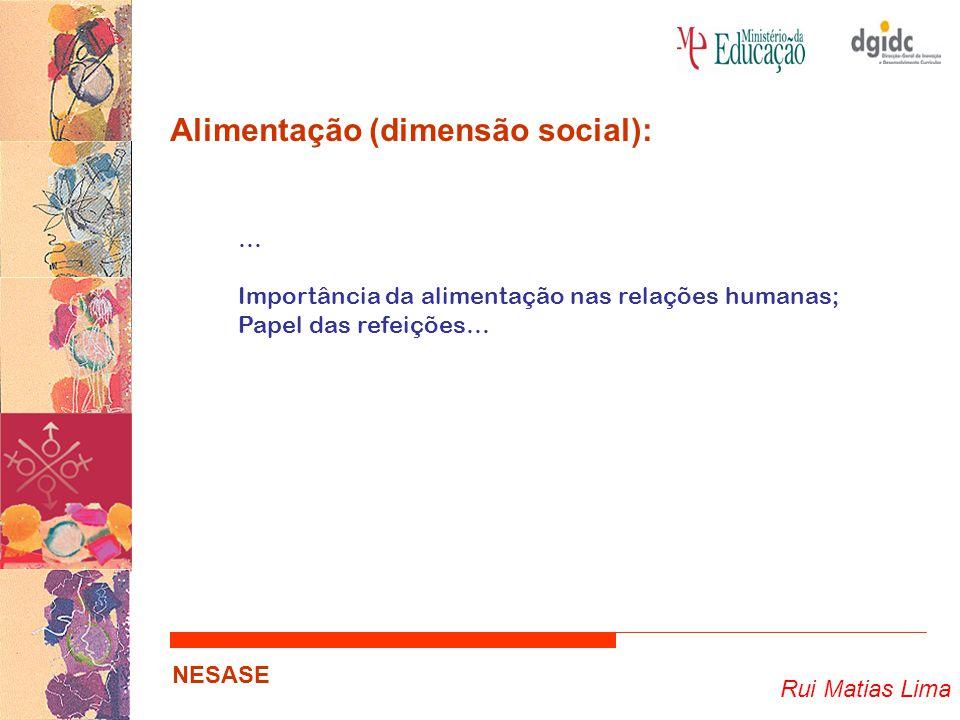 Alimentação (dimensão social):