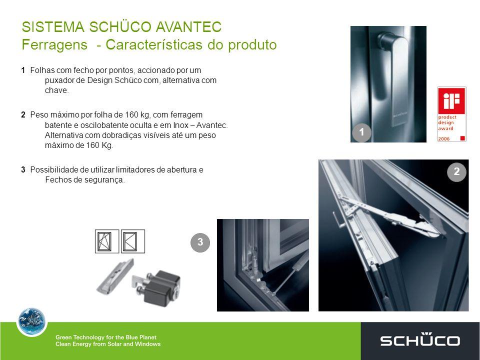 Puxador de Design Schüco com cremone oculto
