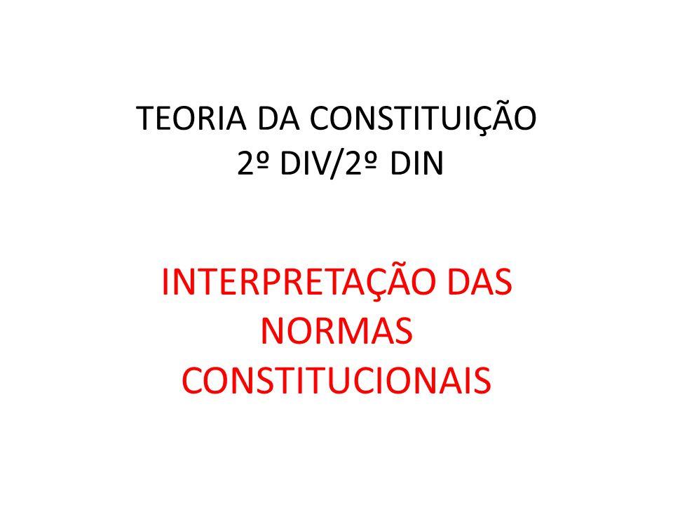 TEORIA DA CONSTITUIÇÃO 2º DIV/2º DIN