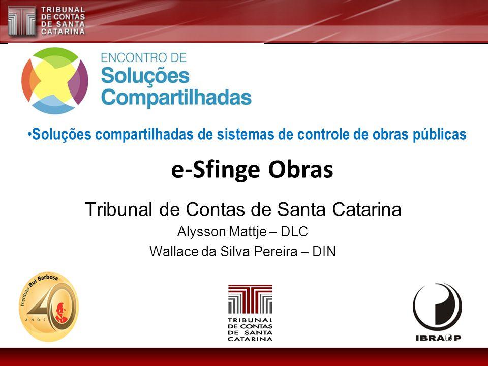 e-Sfinge Obras Tribunal de Contas de Santa Catarina