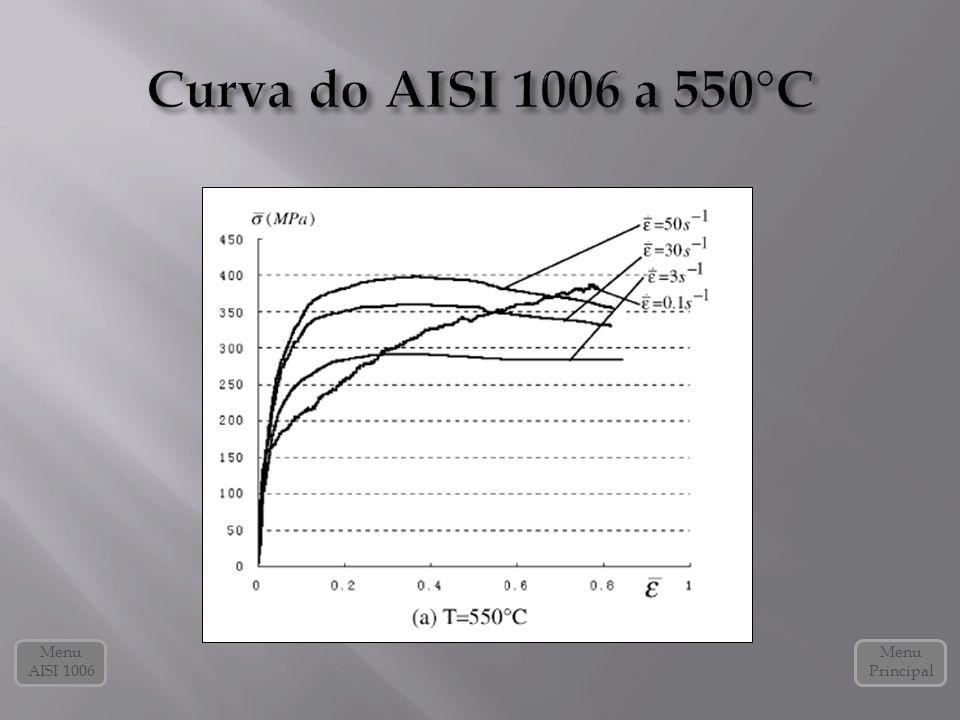 Curva do AISI 1006 a 550°C Menu AISI 1006 Menu Principal