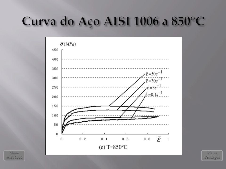 Curva do Aço AISI 1006 a 850°C Menu AISI 1006 Menu Principal