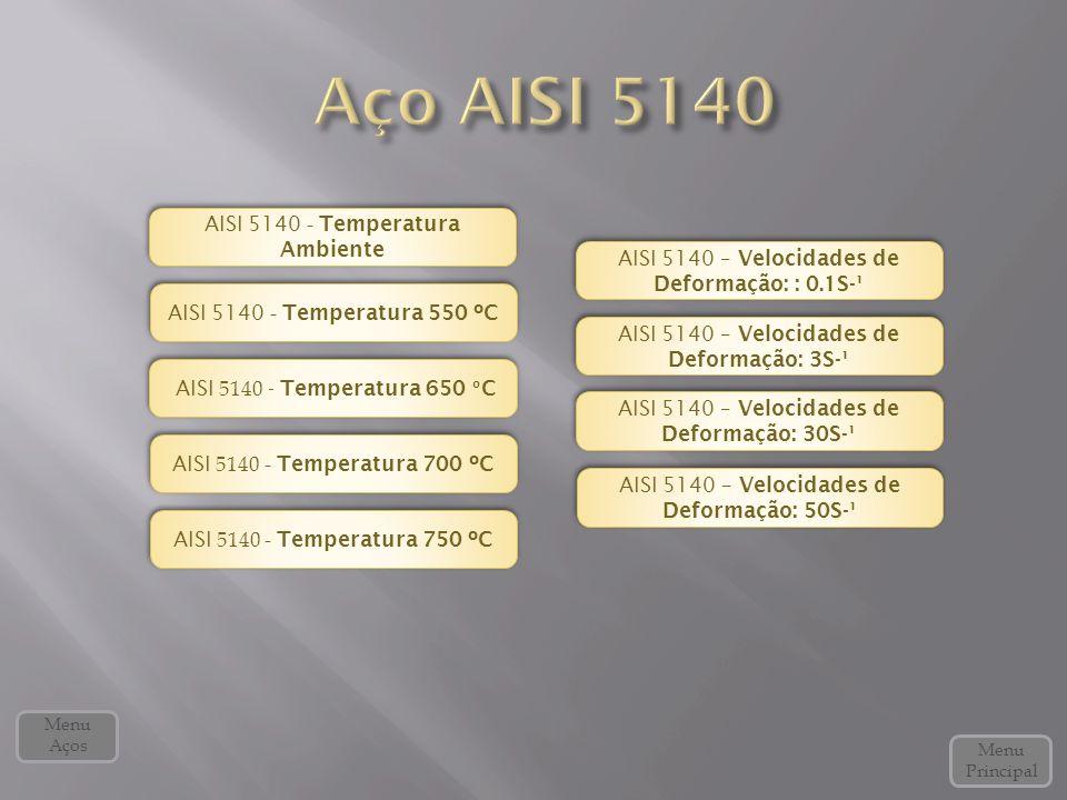 Aço AISI 5140 AISI 5140 - Temperatura Ambiente