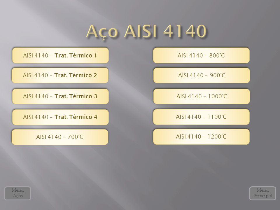 Aço AISI 4140 AISI 4140 – Trat. Térmico 1 AISI 4140 – 800°C