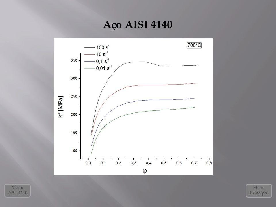 Aço AISI 4140 Menu AISI 4140 Menu Principal