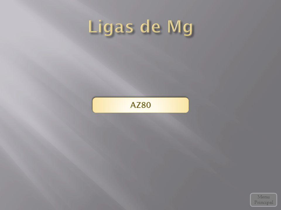 Ligas de Mg AZ80 Menu Principal