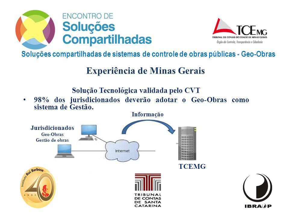 Experiência de Minas Gerais Solução Tecnológica validada pelo CVT