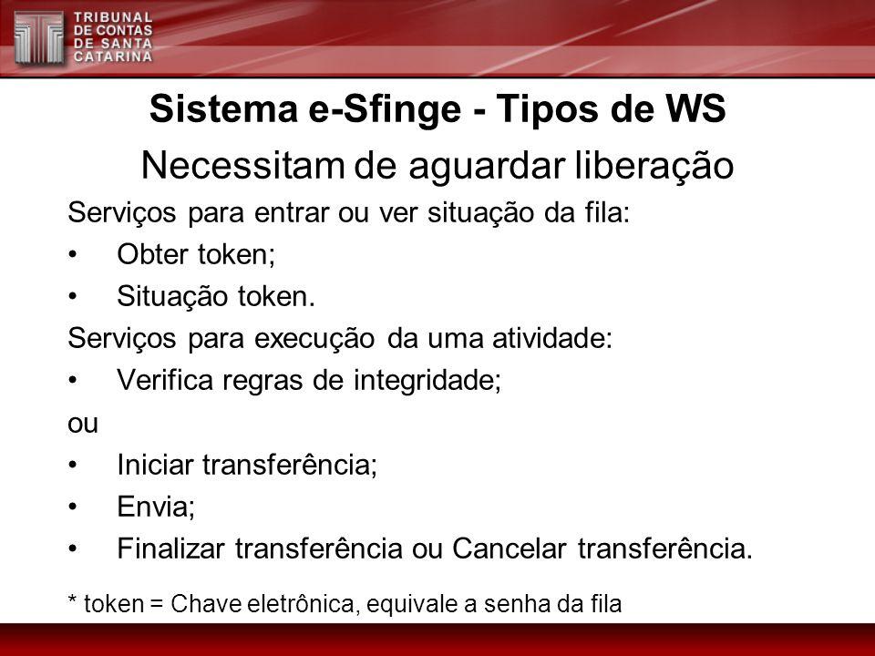 Sistema e-Sfinge - Tipos de WS