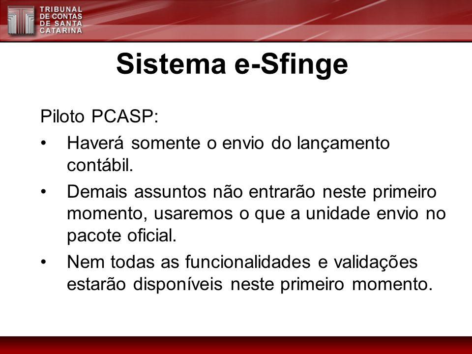 Sistema e-Sfinge Piloto PCASP: