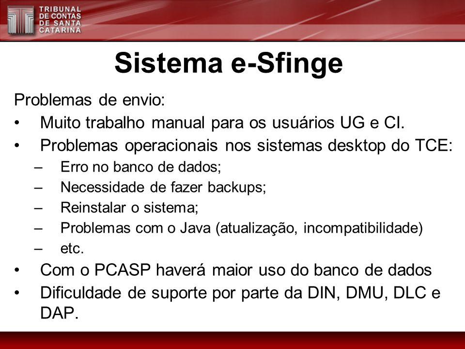 Sistema e-Sfinge Problemas de envio:
