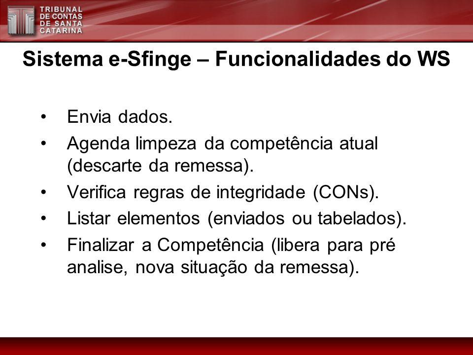 Sistema e-Sfinge – Funcionalidades do WS