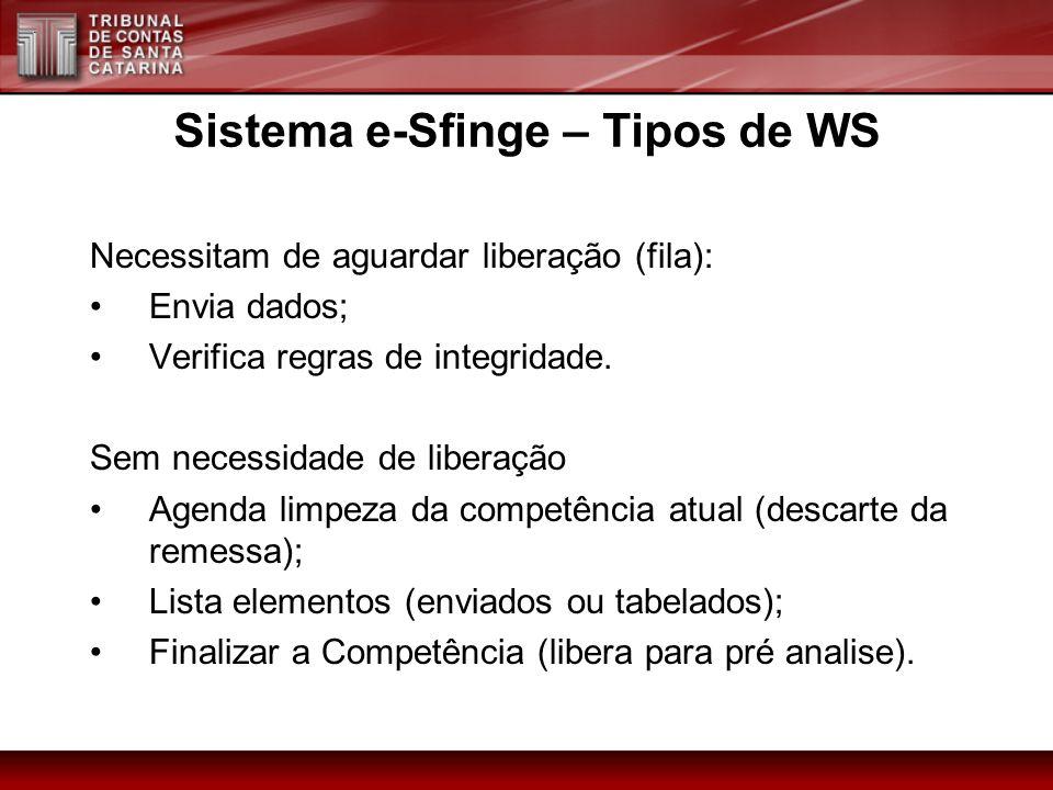 Sistema e-Sfinge – Tipos de WS