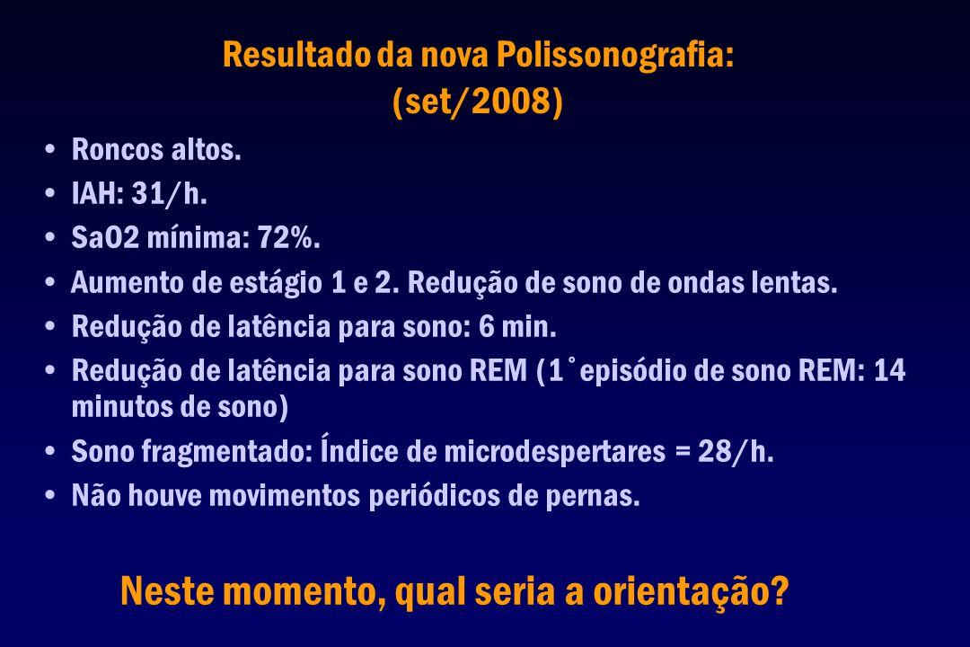 Resultado da nova Polissonografia: (set/2008)