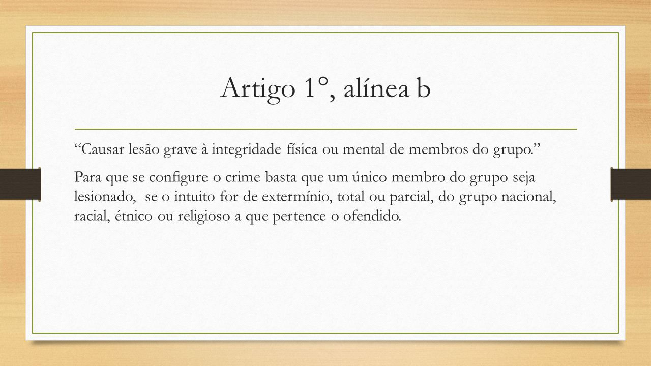 Artigo 1°, alínea b