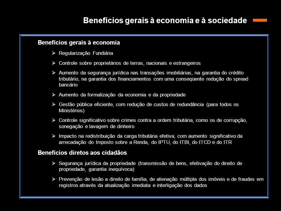 Benefícios gerais à economia e à sociedade