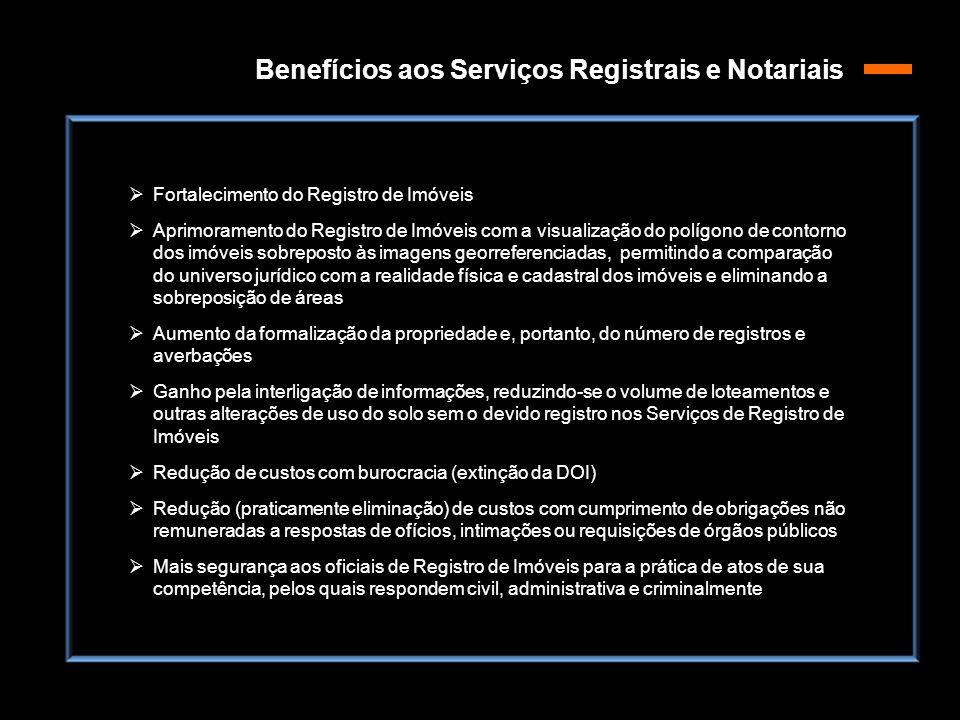 Benefícios aos Serviços Registrais e Notariais