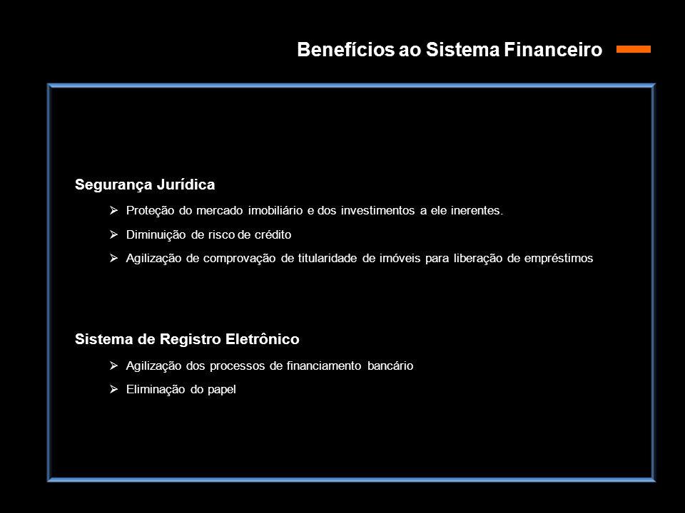 Benefícios ao Sistema Financeiro