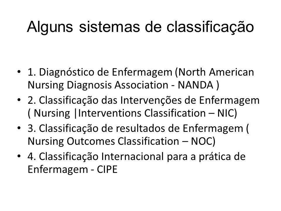 Alguns sistemas de classificação