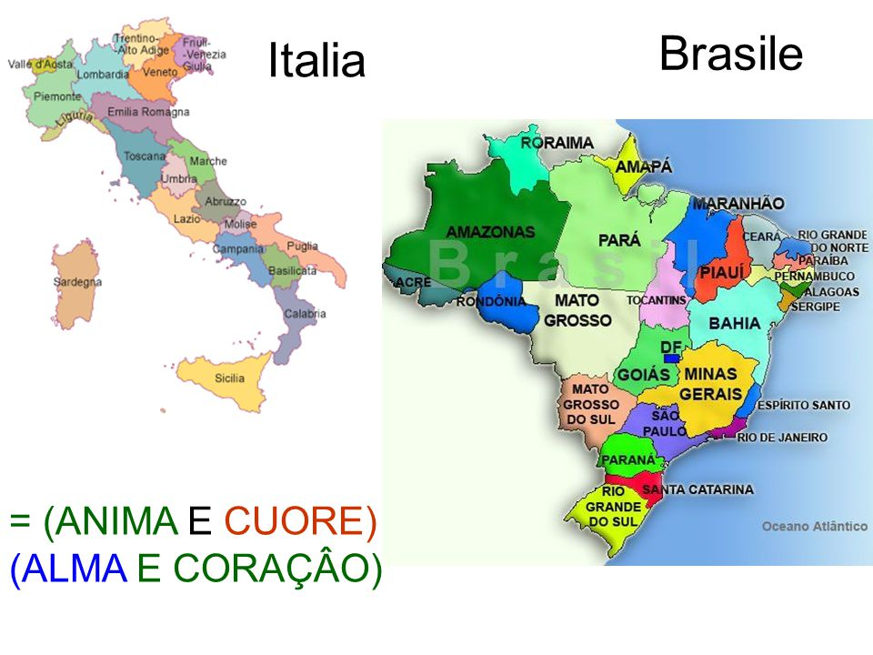 Brasile Italia = (ANIMA E CUORE) (ALMA E CORAÇÂO)