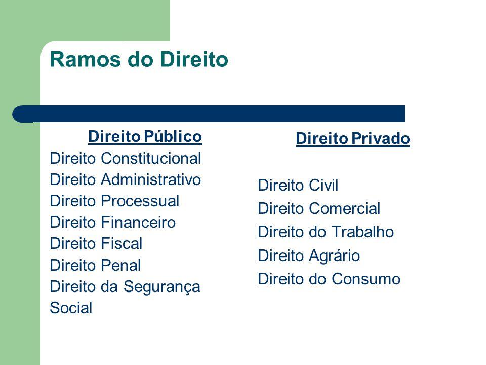 Ramos do Direito Direito Público Direito Constitucional