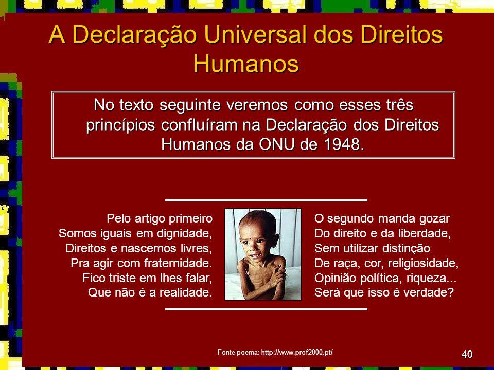 A Declaração Universal dos Direitos Humanos
