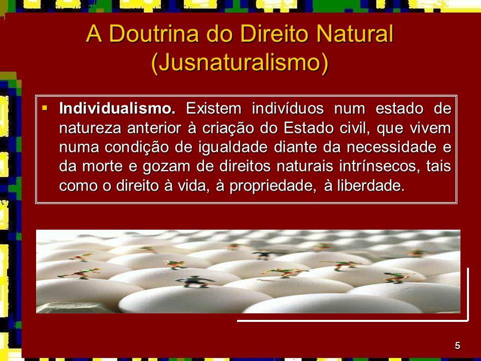 A Doutrina do Direito Natural (Jusnaturalismo)