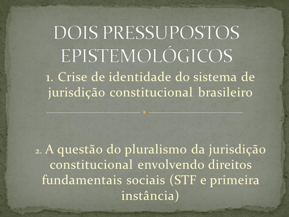 DOIS PRESSUPOSTOS EPISTEMOLÓGICOS