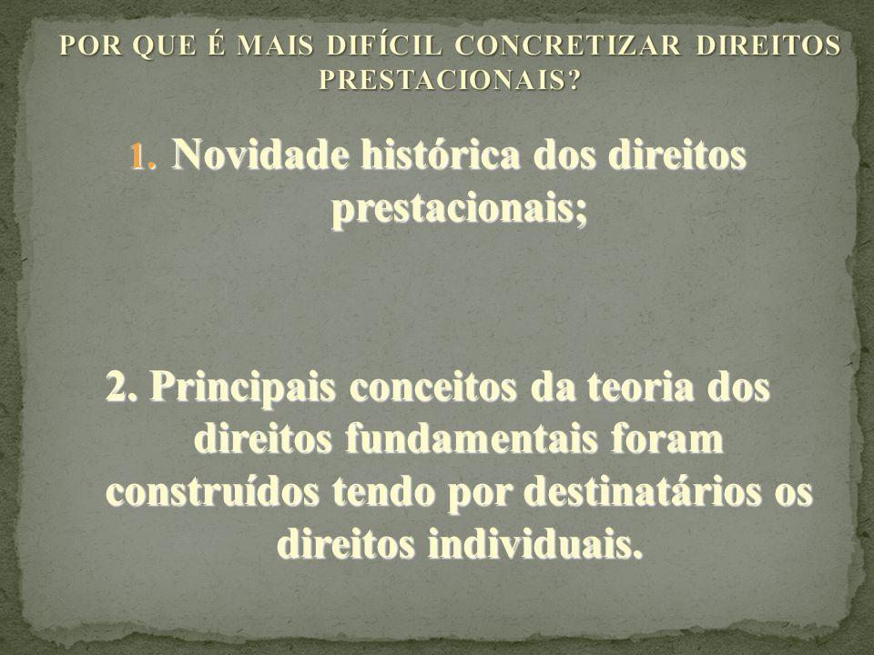 POR QUE É MAIS DIFÍCIL CONCRETIZAR DIREITOS PRESTACIONAIS