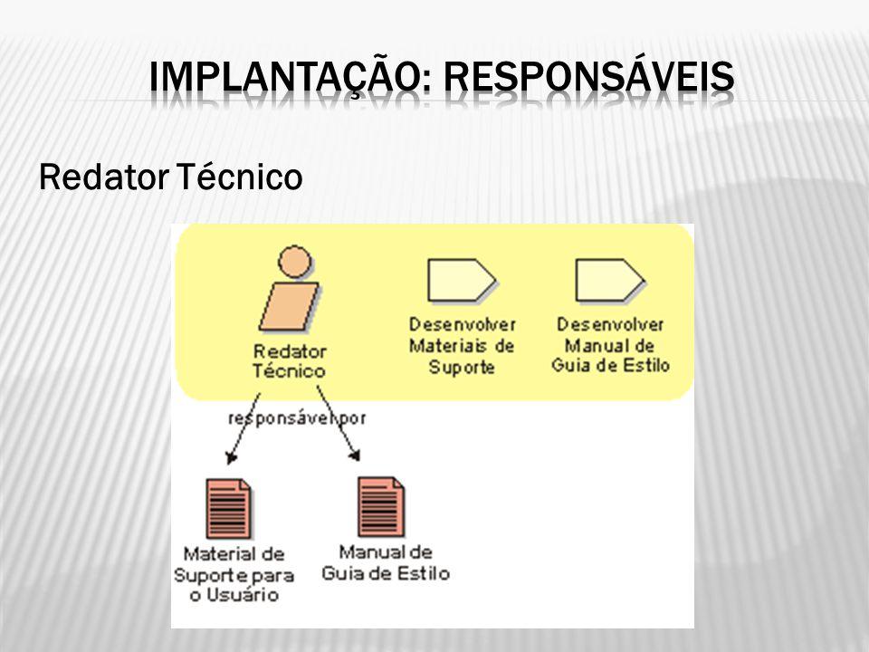 IMPLANTAÇÃO: RESPONSÁVEIS