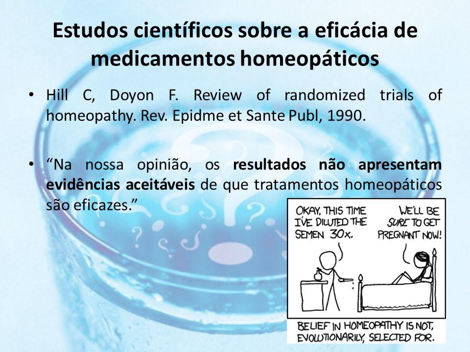Estudos científicos sobre a eficácia de medicamentos homeopáticos