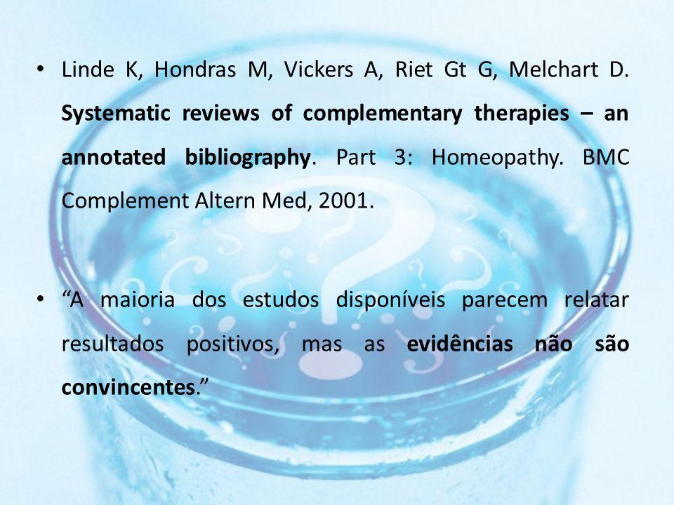 Linde K, Hondras M, Vickers A, Riet Gt G, Melchart D