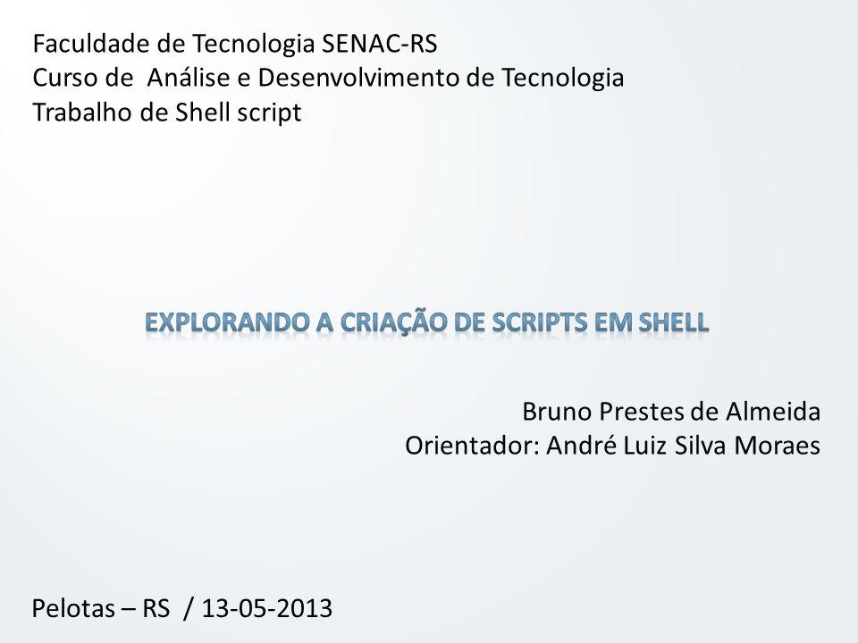 Explorando a criação de scripts em shell