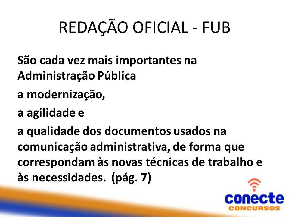 REDAÇÃO OFICIAL - FUB