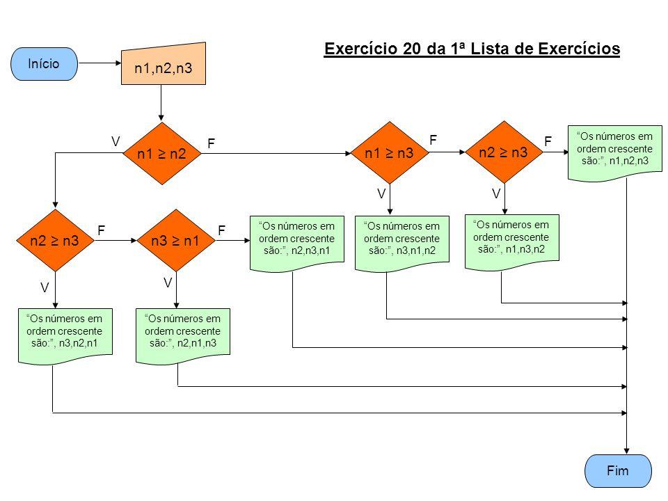 Exercício 20 da 1ª Lista de Exercícios