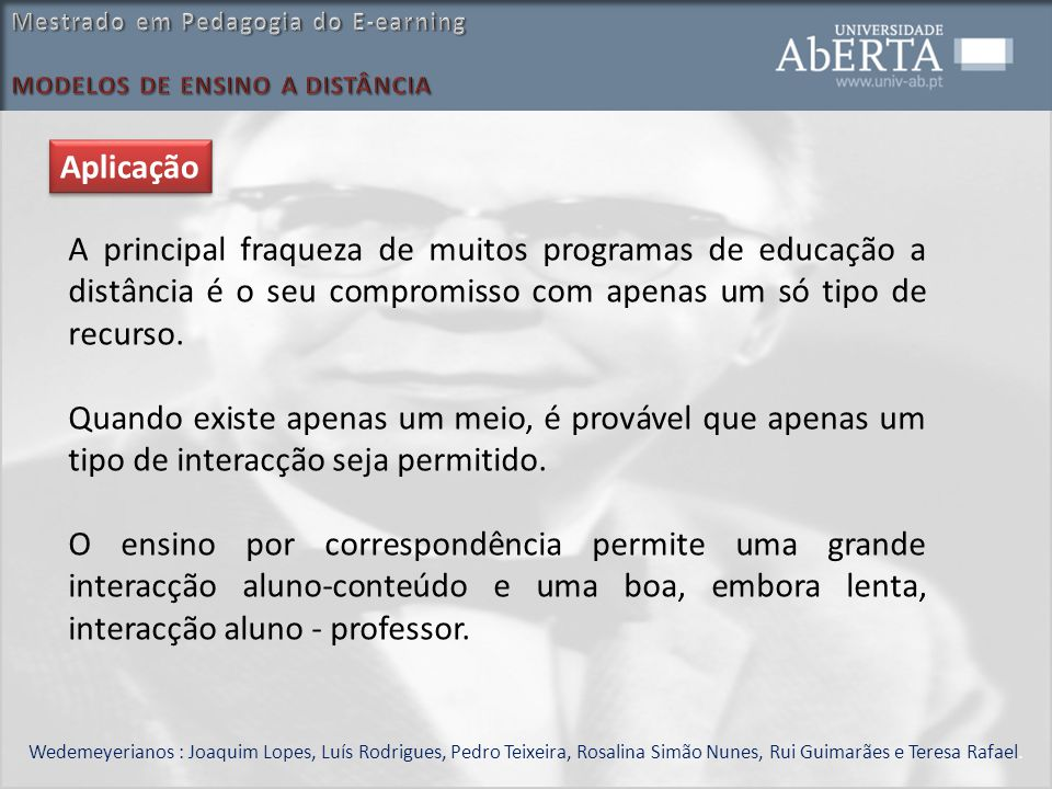Mestrado em Pedagogia do E-earning