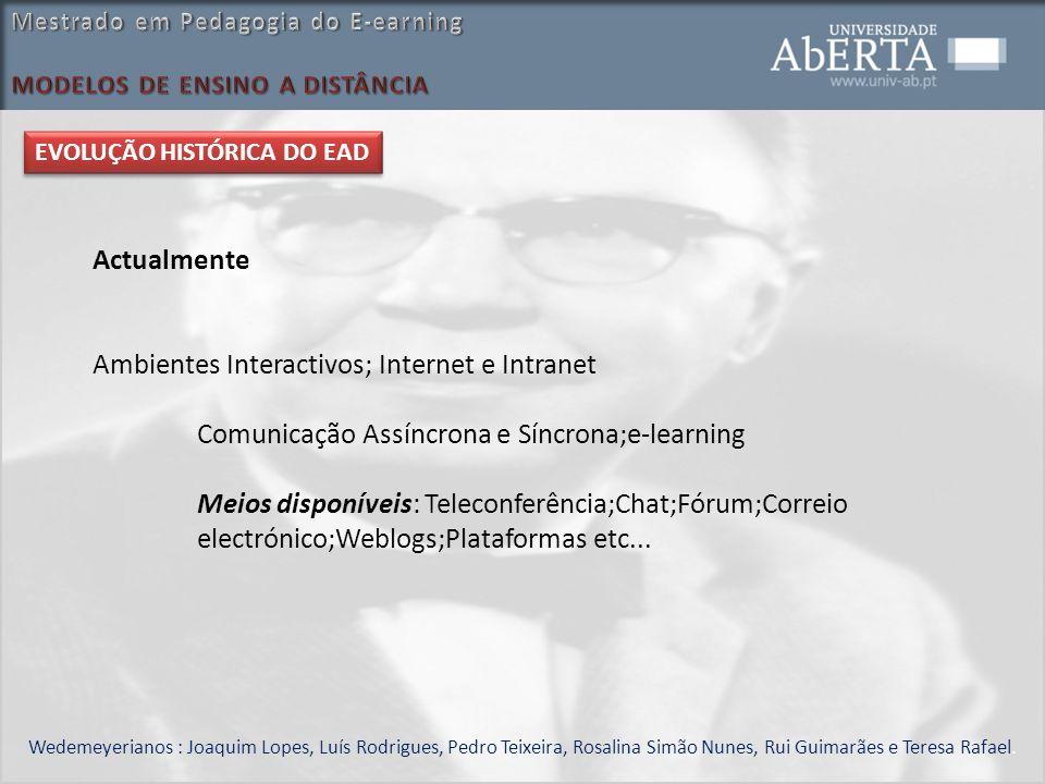 Ambientes Interactivos; Internet e Intranet