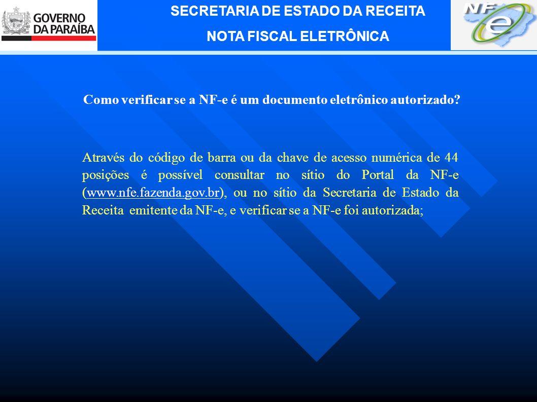 Como verificar se a NF-e é um documento eletrônico autorizado