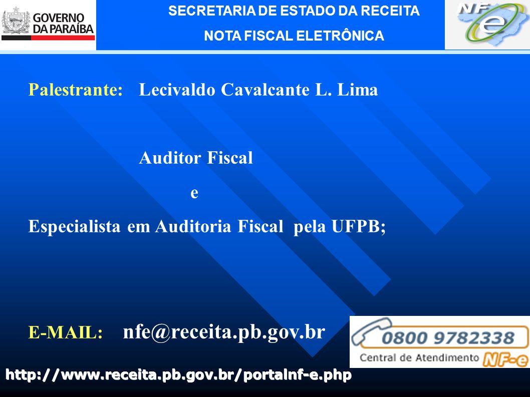 Palestrante: Lecivaldo Cavalcante L. Lima