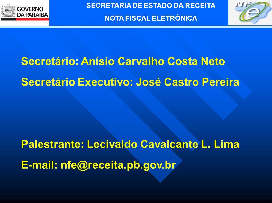 Secretário: Anísio Carvalho Costa Neto