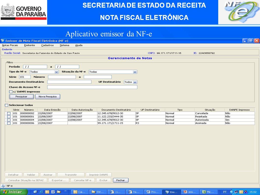 Aplicativo emissor da NF-e
